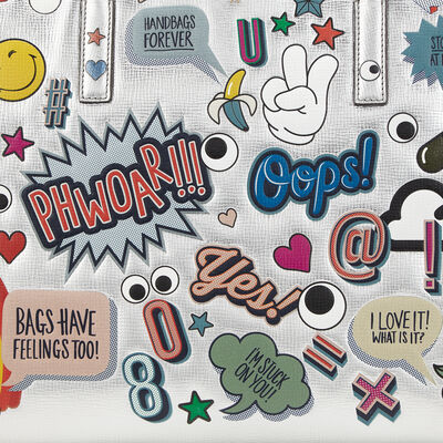 All Over Stickers Maxi Featherweight Ebury by Anya Hindmarch