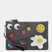 Glitter Stickers Zip Top Pouch by Anya Hindmarch