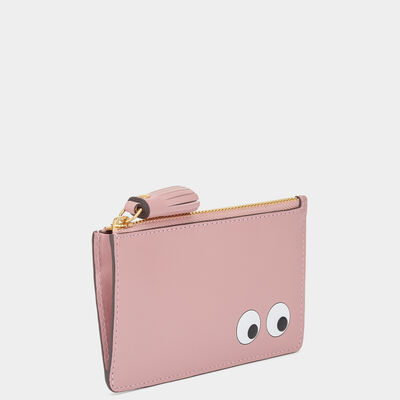 Eyes Zipped Card Key Case by Anya Hindmarch