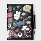 All Over Stickers A5 Two-Way Journal