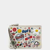 All Over Stickers Zip-Top Pouch by Anya Hindmarch