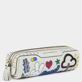 All-Over Stickers Pencil Case