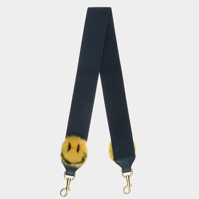 Smiley Pompom Shoulder Strap by Anya Hindmarch