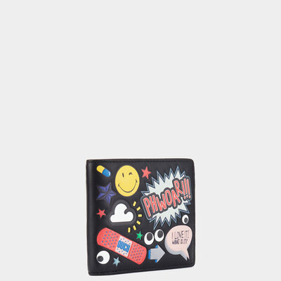 All Over Stickers 8 Card Wallet