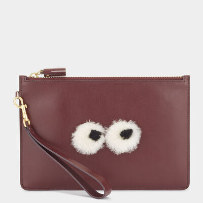 Eyes Zip-Top Pouch by Anya Hindmarch