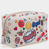All Over Sticker Rubber Make-Up Pouch by Anya Hindmarch