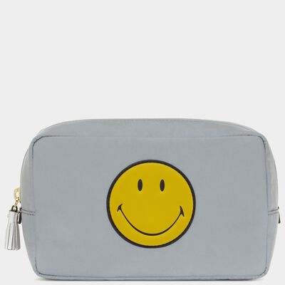Smiley Make-Up Pouch by Anya Hindmarch