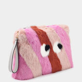 Large Eyes Fur Clutch by Anya Hindmarch