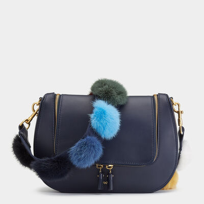 Rainbow Pompom Shoulder Strap by Anya Hindmarch