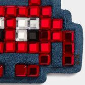Mini Space Invaders Diamante Stickers