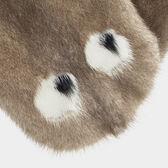 Eyes mink scarf