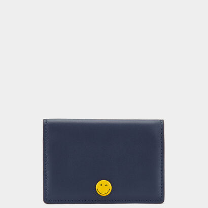Smiley Popper Folded Card Case  by Anya Hindmarch