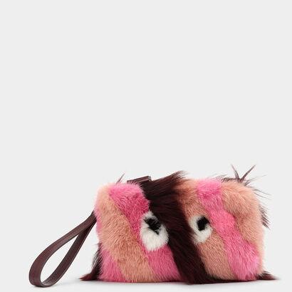 Eyes Fur Clutch by Anya Hindmarch