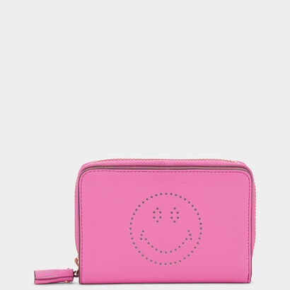 Smiley Compact Wallet by Anya Hindmarch