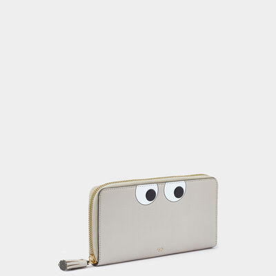 Eyes Large Zip-Around Wallet by Anya Hindmarch