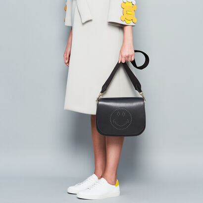 Smiley Ebury Satchel in {variationvalue} from Anya Hindmarch