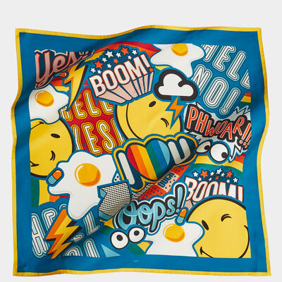 Stickers Large Silk Scarf
