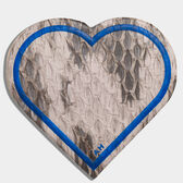 Heart Snakeskin Sticker