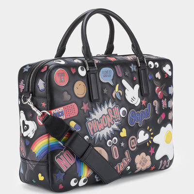 All Over Stickers Walton Briefcase by Anya Hindmarch