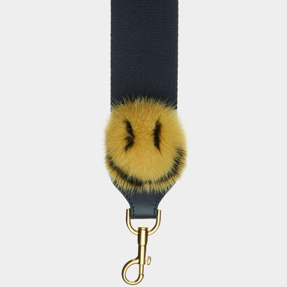 Smiley Pompom Shoulder Strap