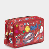 All Over Stickers Make-Up Pouch