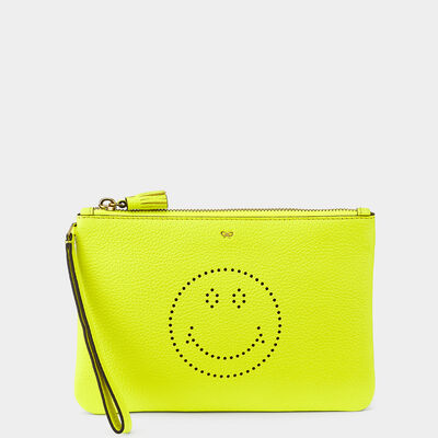 Smiley Zip-Top Pouch