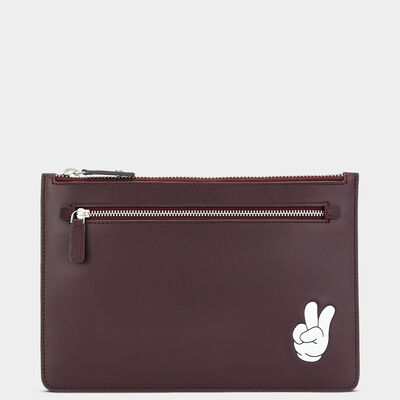 Victory Double-Zip Pouch  in {variationvalue} from Anya Hindmarch