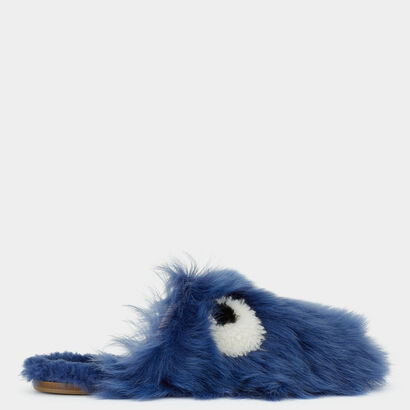 Eyes Shearling Slippers by Anya Hindmarch