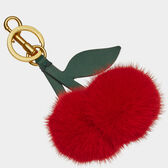 Cherry Mink Tassel by Anya Hindmarch
