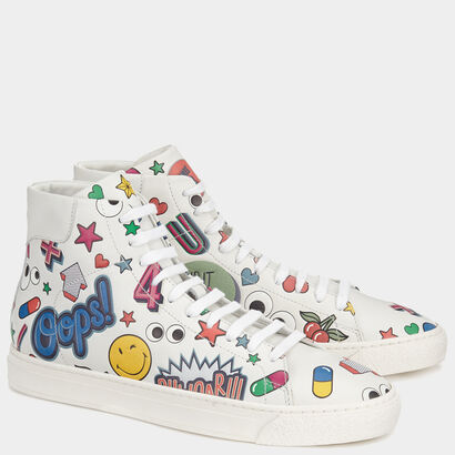 All Over Stickers High-Tops by Anya Hindmarch