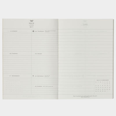 2017 Diary Refill A6 by Anya Hindmarch