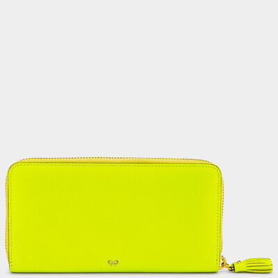 Smiley Large Zip-Around Wallet by Anya Hindmarch