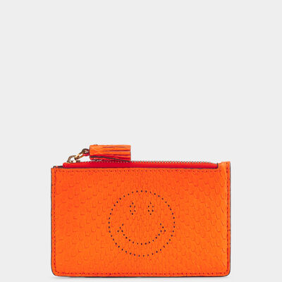 Python Smiley Zipped Card Case