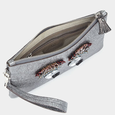 Diamante Eyes Zip-Top Pouch by Anya Hindmarch