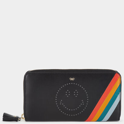 Spectrum Stripes Large Zip-Around Wallet