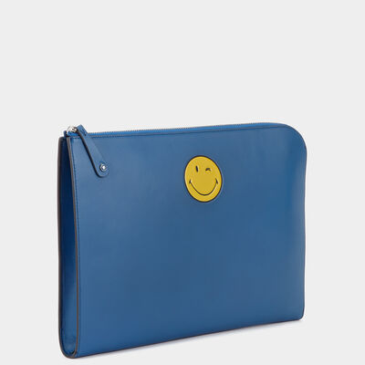 Smiley Document Case in {variationvalue} from Anya Hindmarch