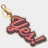 Yes Key Ring by Anya Hindmarch
