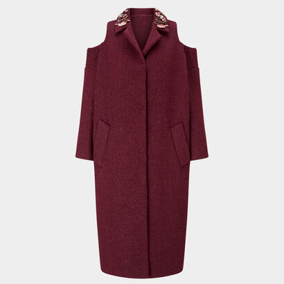 Shoulderless Coat with Diamante by Anya Hindmarch