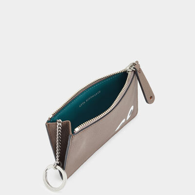 Eyes Zipped Card Case by Anya Hindmarch