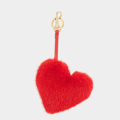 Heart Mink Tassel by Anya Hindmarch
