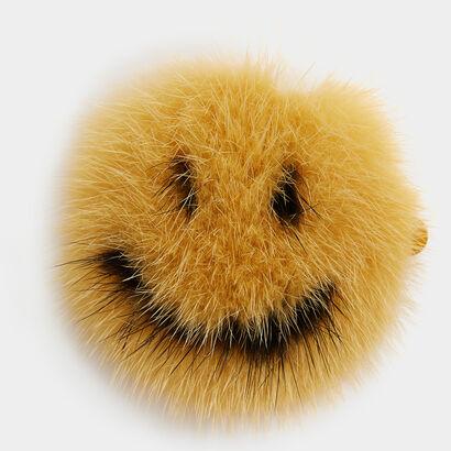 Smiley Fur Sticker