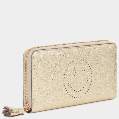 Wink Large Zip-Around Wallet by Anya Hindmarch