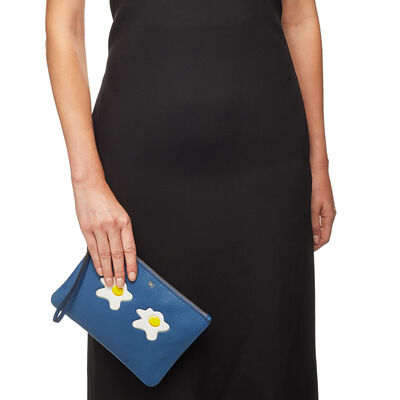 Eggs Zip Top Pouch by Anya Hindmarch