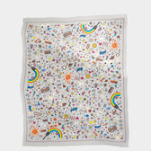 All Over Stickers Cashmere-Blend Scarf
