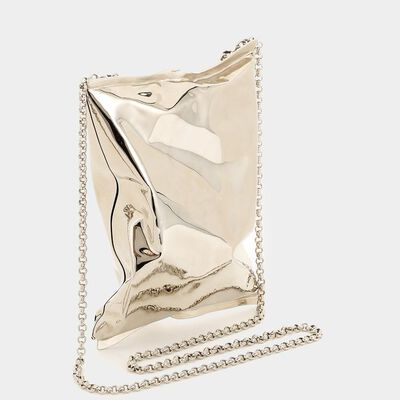 18ct Yellow Gold Crisp Packet Clutch