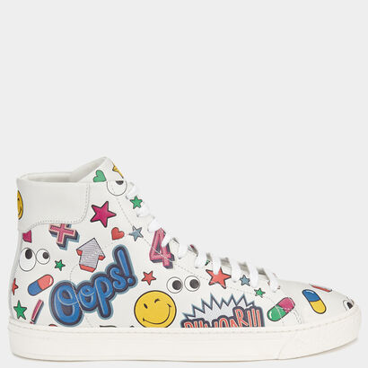 All Over Stickers High-Tops