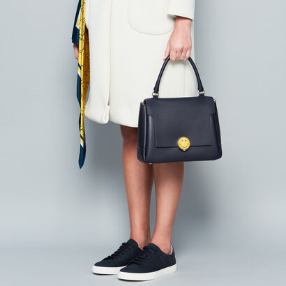 Bathurst Satchel with Smiley Lock in {variationvalue} from Anya Hindmarch