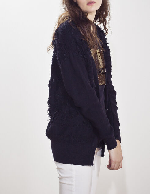 Women's black cardigan