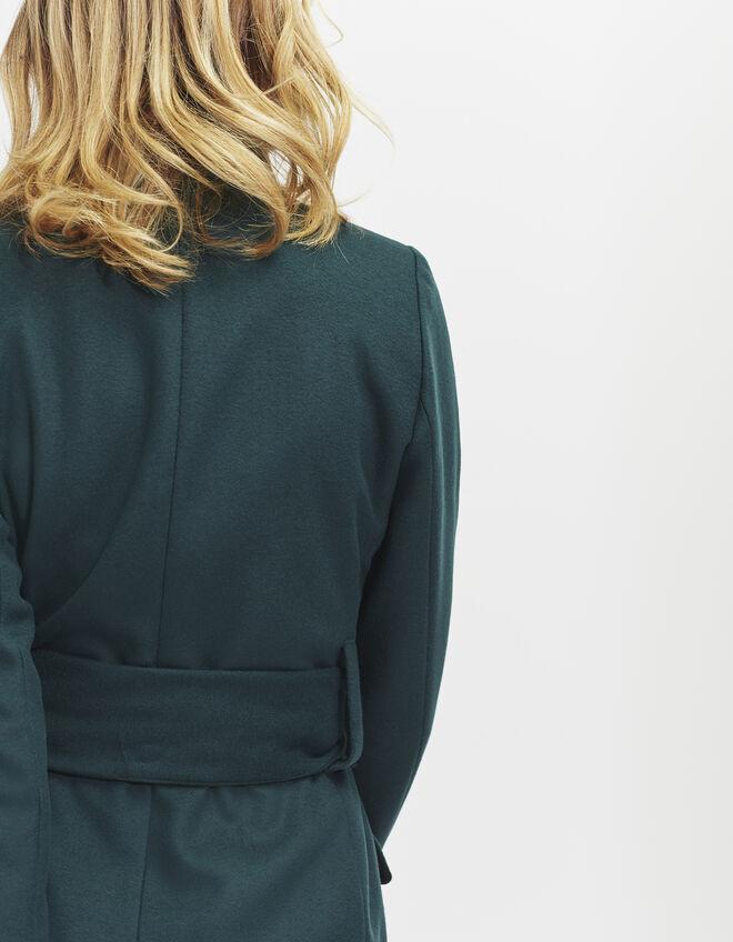 manteau long vert femme ikks mode archive h16 automne hiver. Black Bedroom Furniture Sets. Home Design Ideas