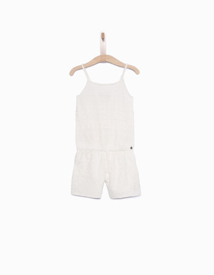 Girls' white short jumpsuit - IKKS Junior